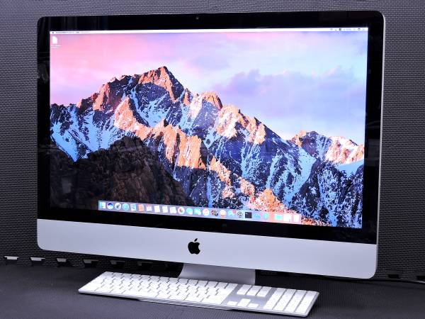 メモリ満タン!! 27inch iMac i7-QC-3.4G 16G 2TB HD6970M-1G Mid2011 Sierra最新OS