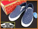 VANS/バンズ★Classic Slip-On CA/クラシック スリッポン(US8/26cm/ブルーチェック)Washed Herringbone:新品未使用