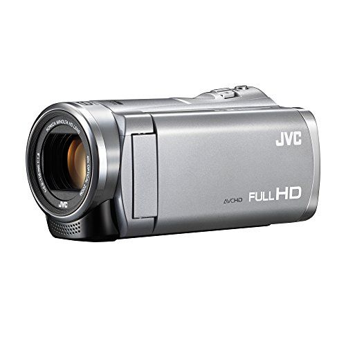 JVC ジェイブイシー Everio 8GB内蔵メモリー フルハイビジョンビデオカメラ GZ-E880 (単品 シルバー(S)) 遠くの被写体を より大きく美しく