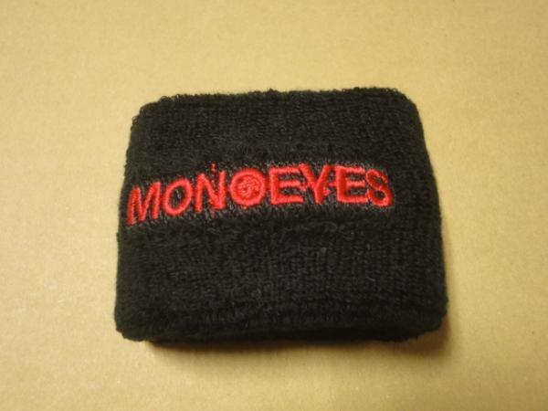 [グッズ] MONOEYES (モノアイズ) 「リストバンド (ブラック×レッド)」 (新品未開封) / 黒 赤