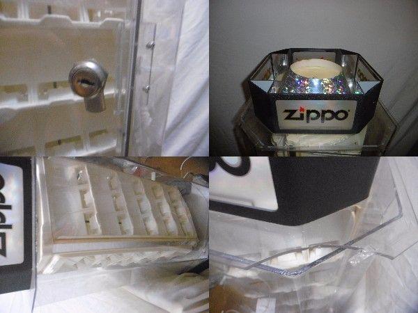 Zippo ショーケース 店頭 ディスプレイ コレクターケース ライター コレクション展示 一面に5段×3個 の4面 60個展示可能 ジャンク_画像3