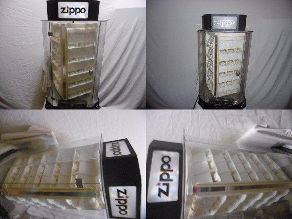 Zippo ショーケース 店頭 ディスプレイ コレクターケース ライター コレクション展示 一面に5段×3個 の4面 60個展示可能 ジャンク