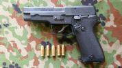 MGC 陸上自衛隊 9mm拳銃 モデルガン 未発火 カートリッジ×5発/SIG SAUER P220/訓練教材