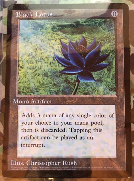 正規品 激レア Black Lotus MTG