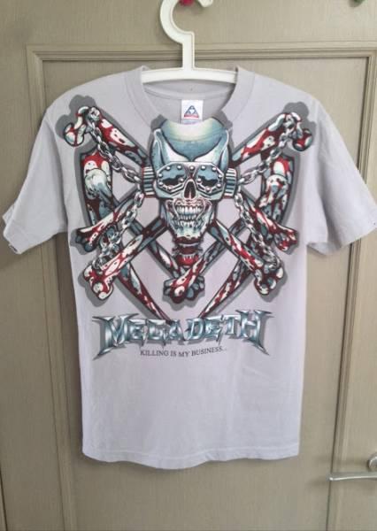 [ Tシャツ ] MEGADETH ( メガデス ) / killing is my business ( キリング・イズ・マイ・ビジネス ) / サイズS / グレー/ コピーライト
