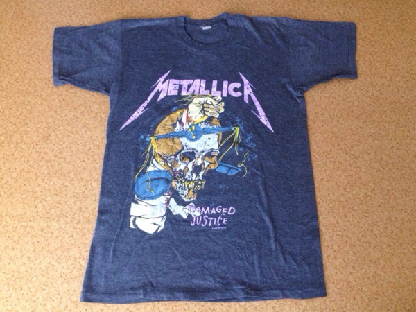 80s METALLICA メタリカ Tシャツ 82年 ビンテージ pushead パスヘッド バイオレントグラインド zorlac ゾーラック メタル バンド ロック ライブグッズの画像