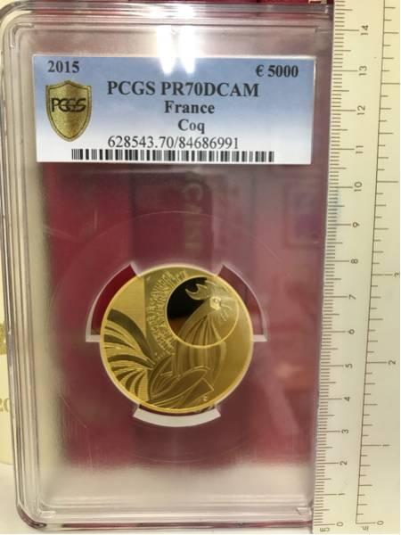 2015年 フランス 5000ユーロ 大型金貨 完全無欠唯一鑑定PR70DCAM