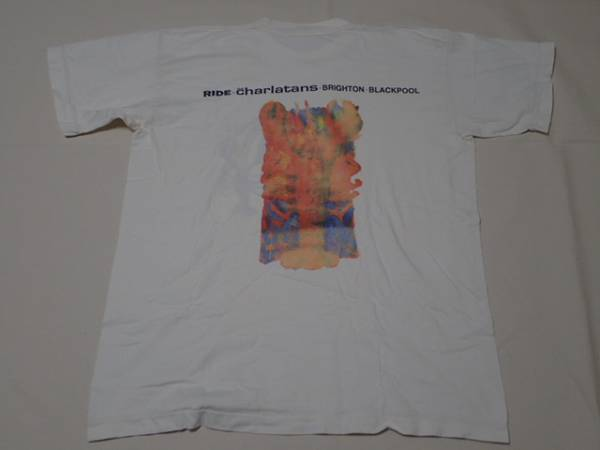 RIDE the charlatans 90年代 ヴィンテージ Tシャツ シングルステッチ 白 XL 検 La's nirvana sonic youth oasis butthole surfers l7