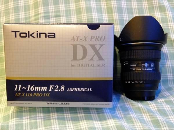 トキナー/Tokina AT-X116 PRO DX 11-16mm F2.8 ニコン用(中古)です。