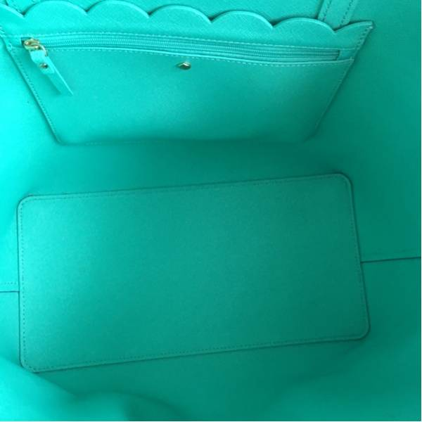 【大人気】ケイトスペード トートバッグ ブルー マザーズバッグ 本物 used_僅かに小さく汚れている箇所がございます