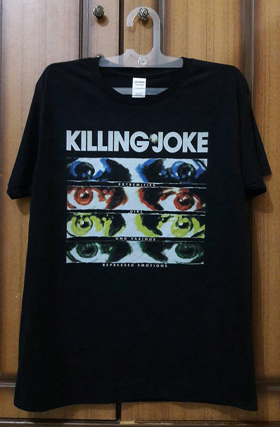 ★KIlling Joke バンドTシャツ キリングジョーク★ L~XL程度 ★joy division bauhaus ministry nirvana nine inch nails