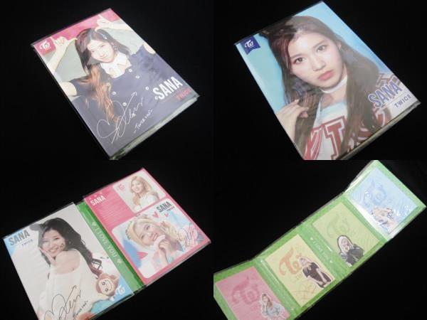 SANA・サナ★TWICE★トゥワイス 折りたたみ 4連メモ帳 4連メモパッド メモBOOK