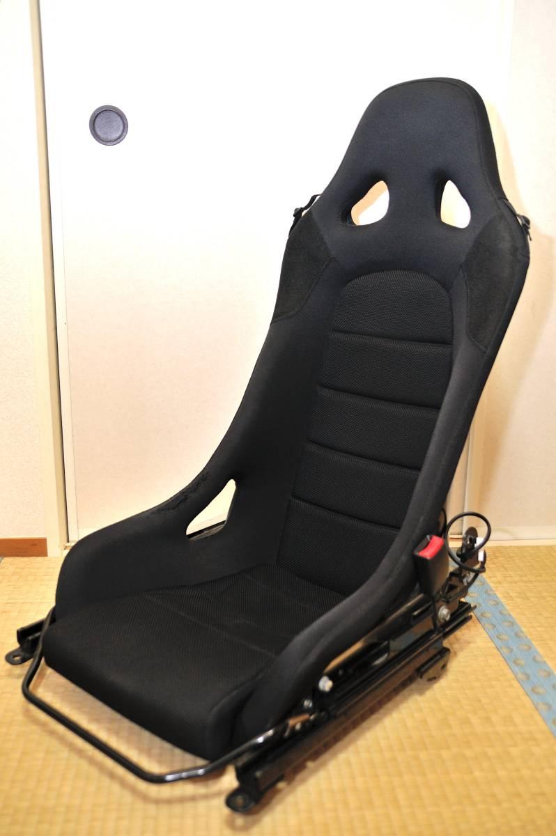 ★☆Dsport コペンL880専用 フルバケットシート 専用シートレール&シートベルトバックル付