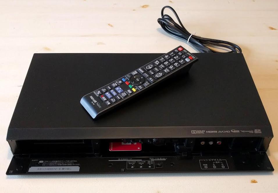 ★マクセル maxell Wチューナー搭載 1TB内蔵ハードディスク+IVDRレコーダー VDR-R3000 (HDDハードディスクレコーダー)_画像2