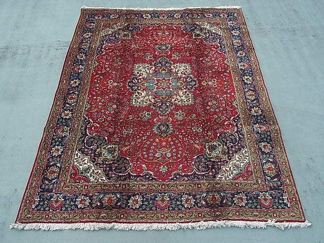 ◆ペルシャ絨毯◆アンティーク家具◆送料無料◆大判 イラン産355×258ギャッベ 骨董 古美術 ビンテージ 古道具 マット カーペット