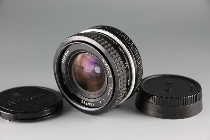 Nikon Nikkor Ai 20mm F4 広角単焦点 交換レンズ 実用品 ニコン Fマウント