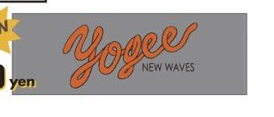 YOGEE NEW WAVES ロゴタオル グレー