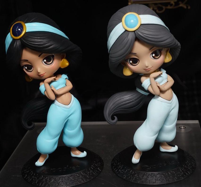 即決 Q posket Disney Characters Jasmine ディズニー アラジン ジャスミン Qposket フィギュア 2種セット ノーマル・パステルカラー ディズニーグッズの画像