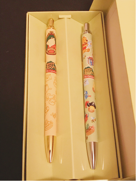 ディズニー 東京ディズニーランド くまのプーさん プーさん 80th celebration ボールペン 2本セット ディズニーグッズの画像
