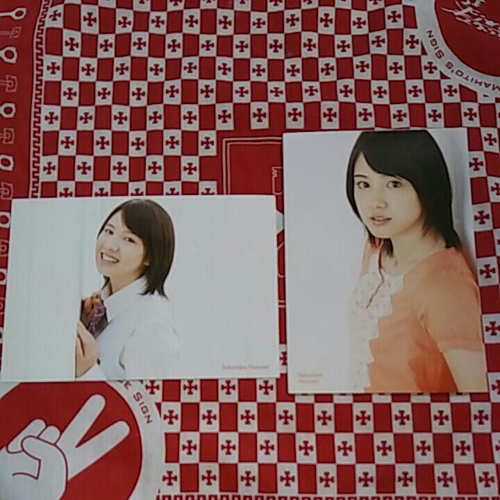切手可、グラビアアイドル、桜庭ななみサイン入り未使用ポストカード2枚セット