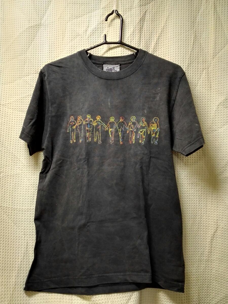 08 バンドTシャツ 映画「レジェンドオブロッカーズ」 アンサークロージズ デザイン刺繍Tシャツ ダメージ加工