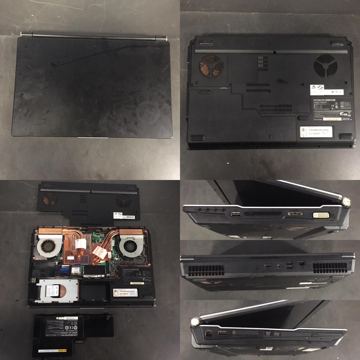 ジャンク ゲーミングPC W86CU MouseComputer CLEVO (Core i7 Q740/15.6型フルHD/メモリー・HDDなし/HDMI)_画像2