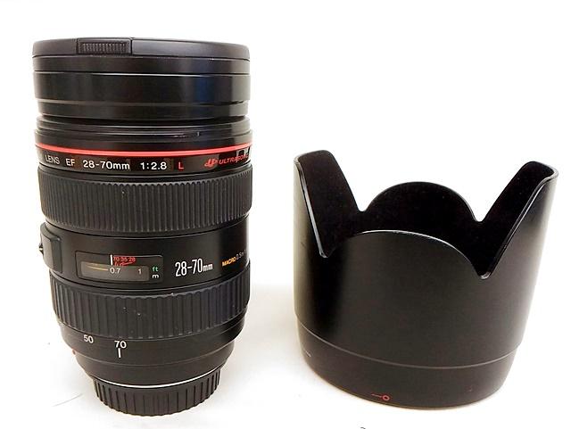 Canon キャノン 望遠レンズ EF 28-70mm F2.8 L フード付