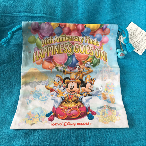 ディズニー ランド 30周年 グランドフィナーレ 巾着 袋 金コス ミッキー ミニー TDR 新品 ディズニーグッズの画像