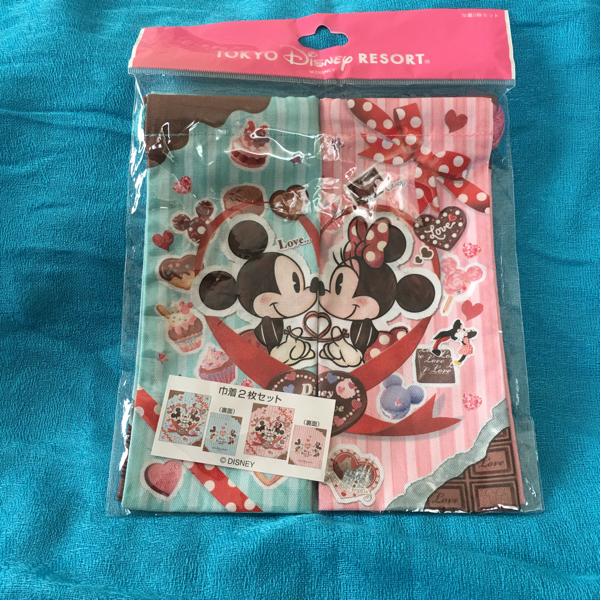 ディズニー ランド シー リゾート スイート 巾着 袋 2枚 セット ハート ミッキー ミニー TDR 新品 ディズニーグッズの画像