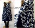 ◆新品4L~◆シフォンカシュクール2枚合わせ*大人素敵な花柄ワンピ*ネイビー