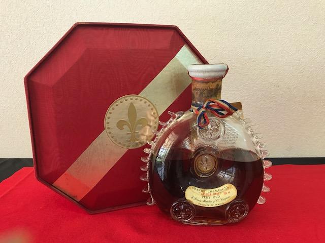 【K-207】古酒 レミーマルタン REMY MARTIN ルイ13世 コニャック 替栓付 八角箱 未開栓 難あり