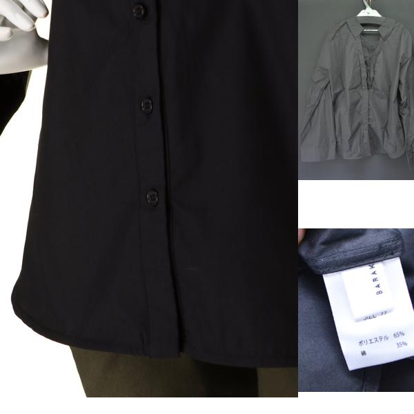新品 BARAK バラク 2WAYレースアップシャツ ブラック size FREE_画像3