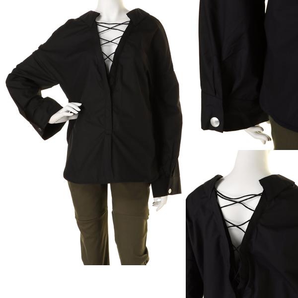 新品 BARAK バラク 2WAYレースアップシャツ ブラック size FREE_画像2