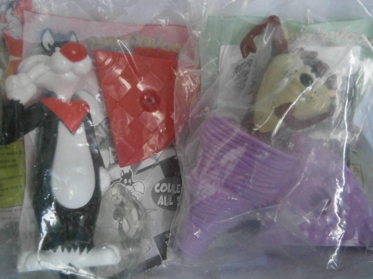 ウェンディーズ(Wendy's) おもちゃ ルーニー・テューンズ シルベスター、タズマニアン・デビル アクションペン 3こセット_画像3