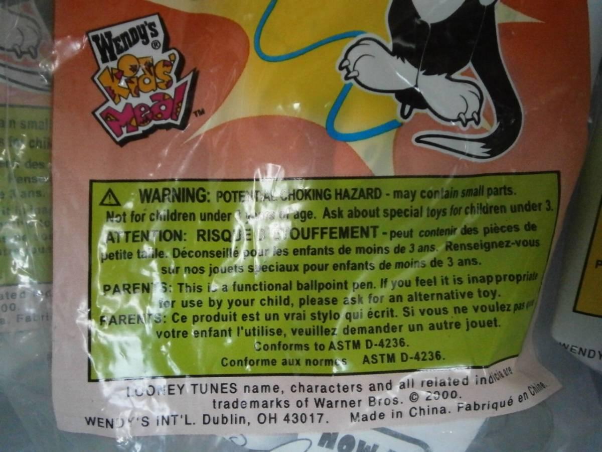 ウェンディーズ(Wendy's) おもちゃ ルーニー・テューンズ シルベスター、タズマニアン・デビル アクションペン 3こセット_画像2
