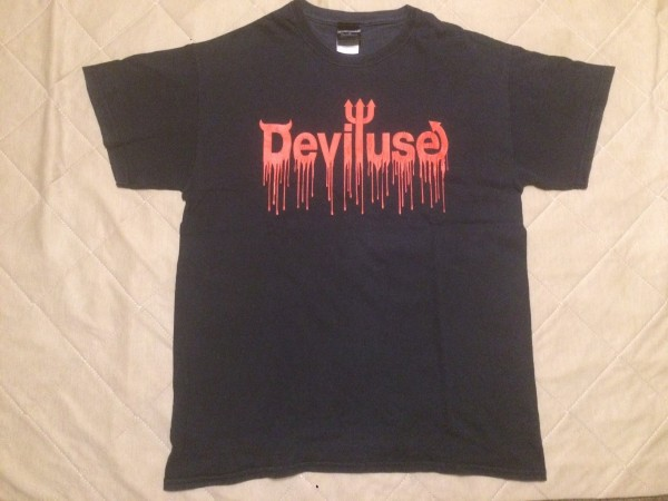 Deviluse Tシャツ M ブラック LOGO BLOOD