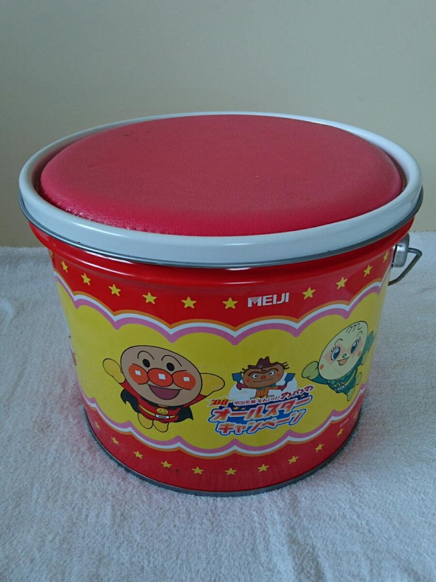 【アンパンマン】 オールスターキャンペーン 座れる缶 グッズの画像