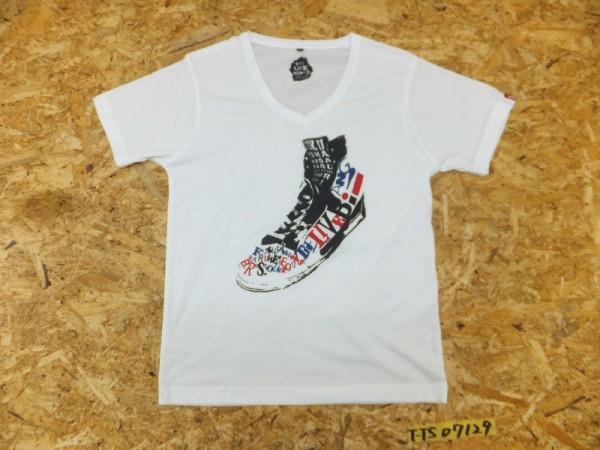 福山雅治 THE LIVE BANG 2011 スニーカープリント Vネック Tシャツ 白 ホワイト M ライブグッズの画像