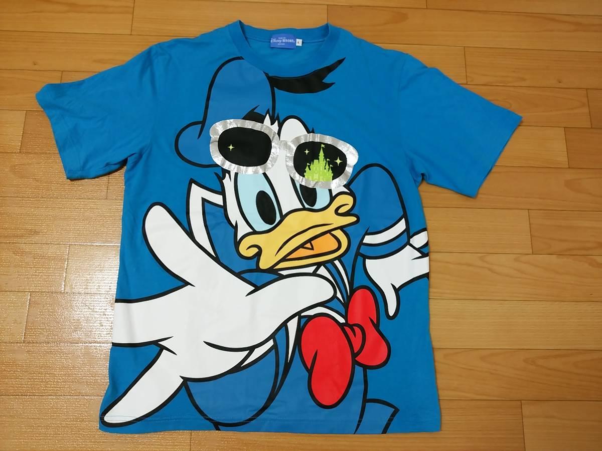 ドナルド ダッグ サングラス Tシャツ ディズニー リゾート L ディズニーグッズの画像