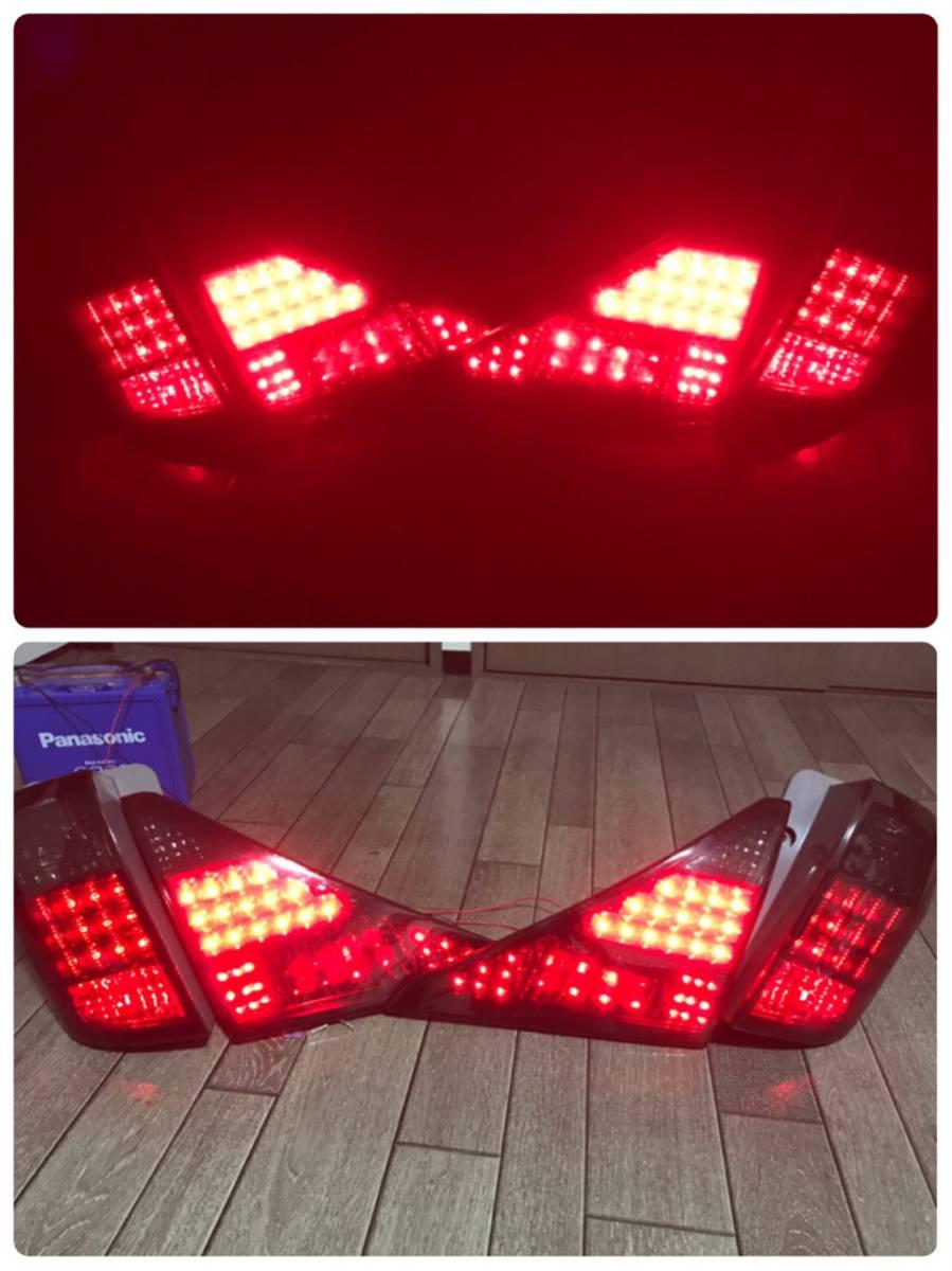 20アルファード 純正テール LED ワンオフ加工 スモークカバー カプラーオン ジャンク