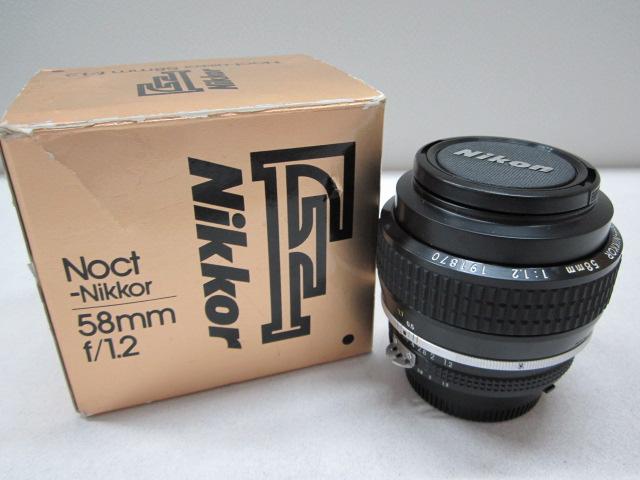 希少レンズ! Nikon ニコン Noct Nikkor 58mm f/1.2 箱入り