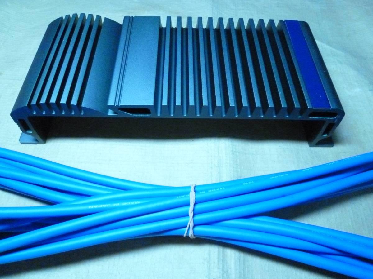 アルパイン ALPINE 初代V12シリーズ 超希少アンプ連結カバー / カナレ4S6高級SP-K10m付 / 特別価格 ヤフネコパック 発送486円~_4芯構造カナレ4S6 高級SP-K(青)10m付きです
