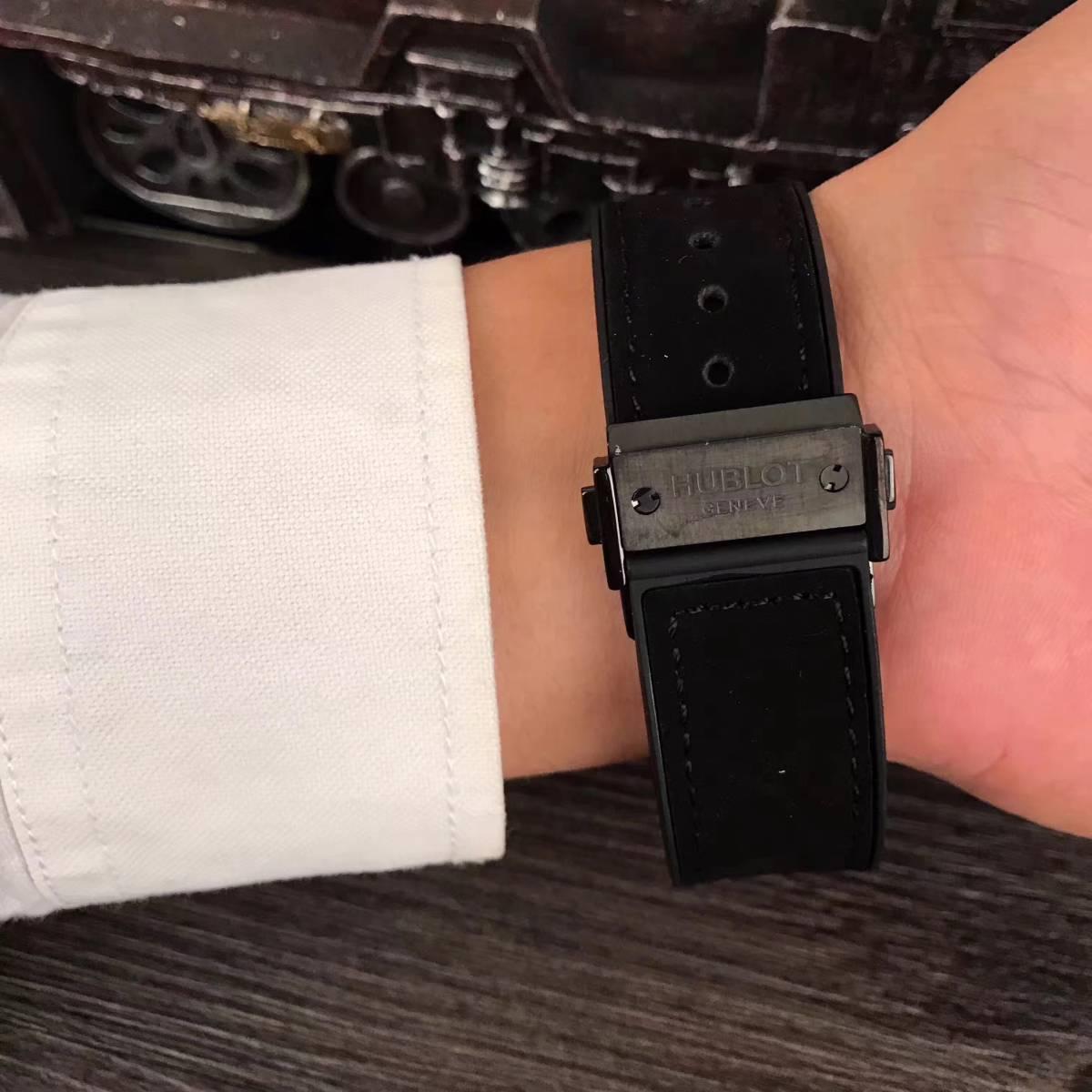 新品 高級感 ウブロ Hublot スケルトン 腕時計 メンズ_画像2