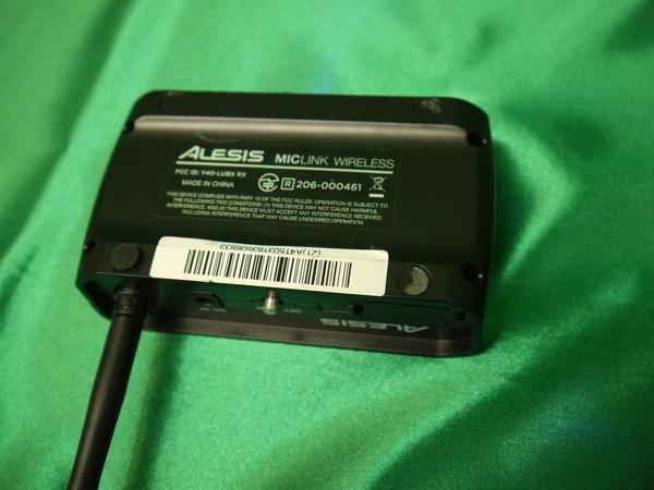 k146* Alesis ワイヤレスアダプター マイクシステム MicLink Wireless 変換器_画像4
