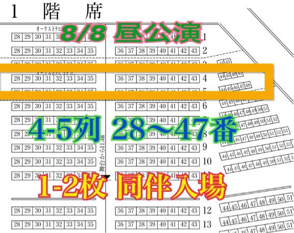 『同伴入場』4-5列 28-47番 AKB48 チーム8 8/8 エイトの日 名古屋 センチュリー祭り 昼