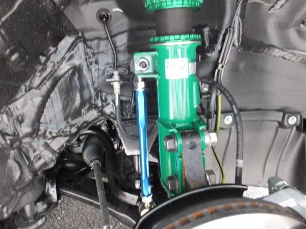 エブリィ DA64 V/W F 調整式 スタビ リンク 車高調 ダウンサスに 強化高耐久品 ブルー フロント 2本 スズキ 保証_画像3