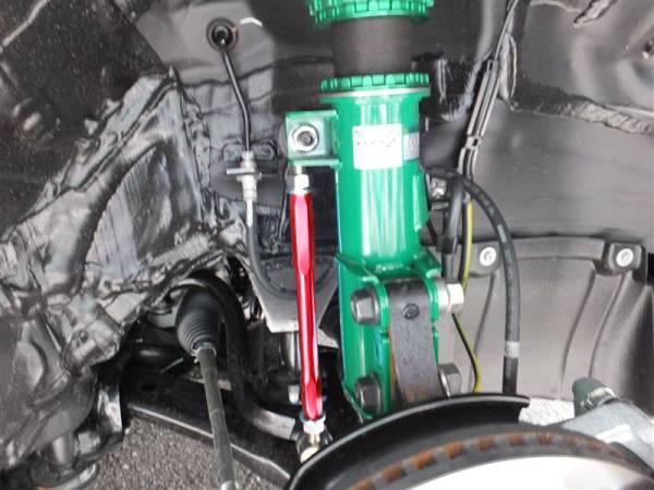 デミオ DJ DE DY 調整式 スタビリンク 車高調 ダウンサス ローダウンに レッド フロント1台分 専用設計 120mm調整可能 高耐久強化品_画像2