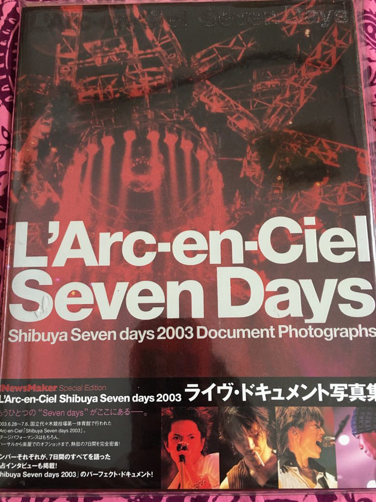 L'Arc-en-Ciel「Shibuya Seven days 2003ライブ・ドキュメント写真集」hyde tetsu ken yukihiro ラルク アーティスト写真集_画像2