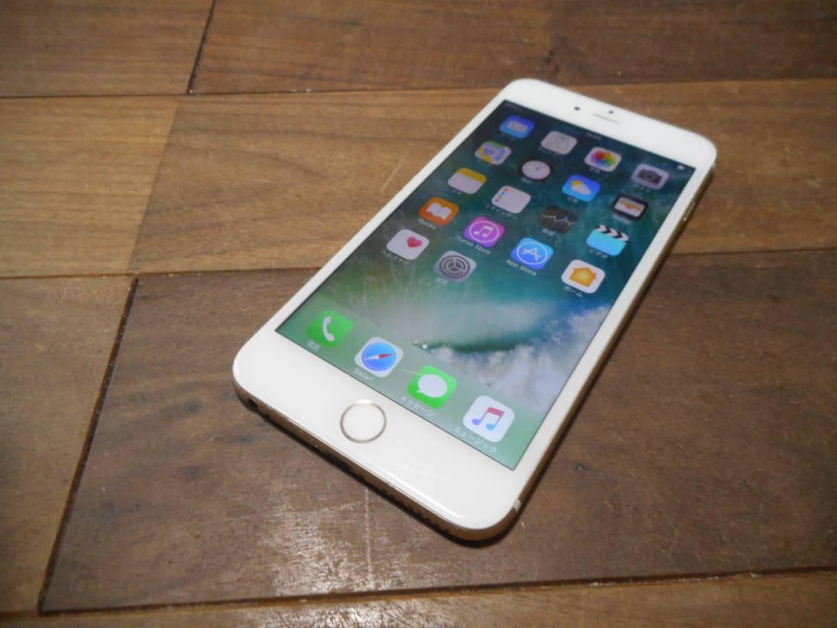 B【完動品液晶無傷】iPhone6Plus本体ゴールドSoftbank16GB白ロム判定〇
