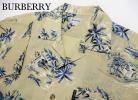 BURBERRY バーバリー 綿&麻 リネンアロハシャツ 開襟シャツ メンズ 大きめサイズ LY 正規 日本製 夏美品